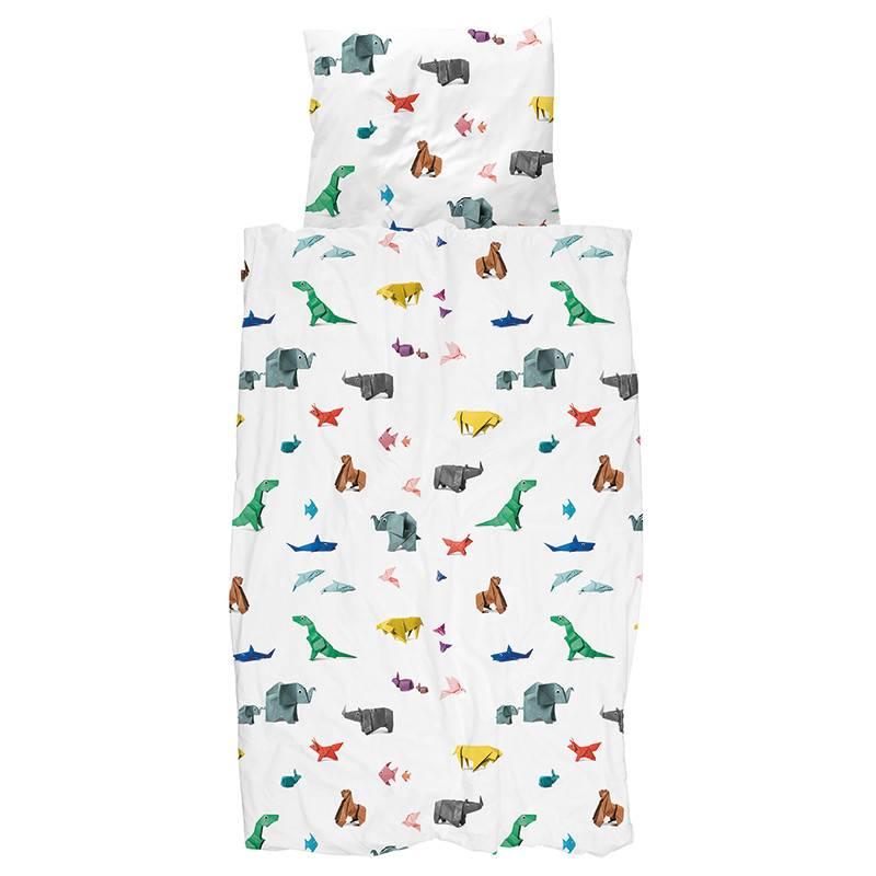 SNURK beddengoed Paper Zoo dekbedovertrek 1P