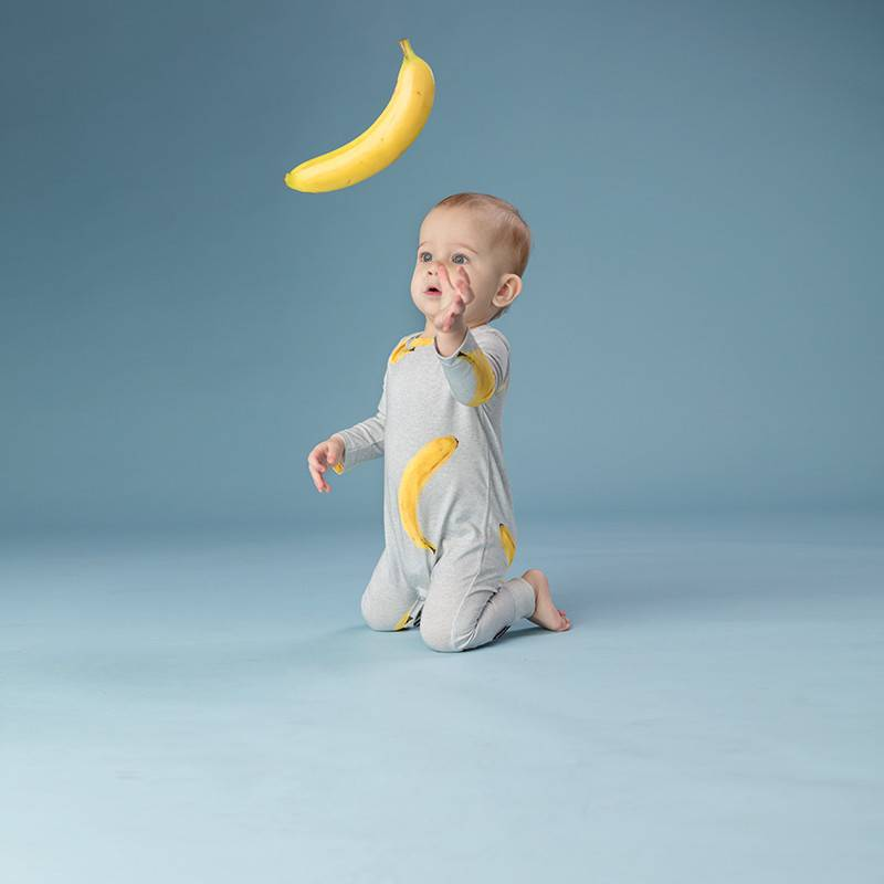 SNURK beddengoed Jumpsuit baby Banana