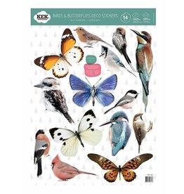 KEK Amsterdam Muurstickers Birds & butterflies set van 14