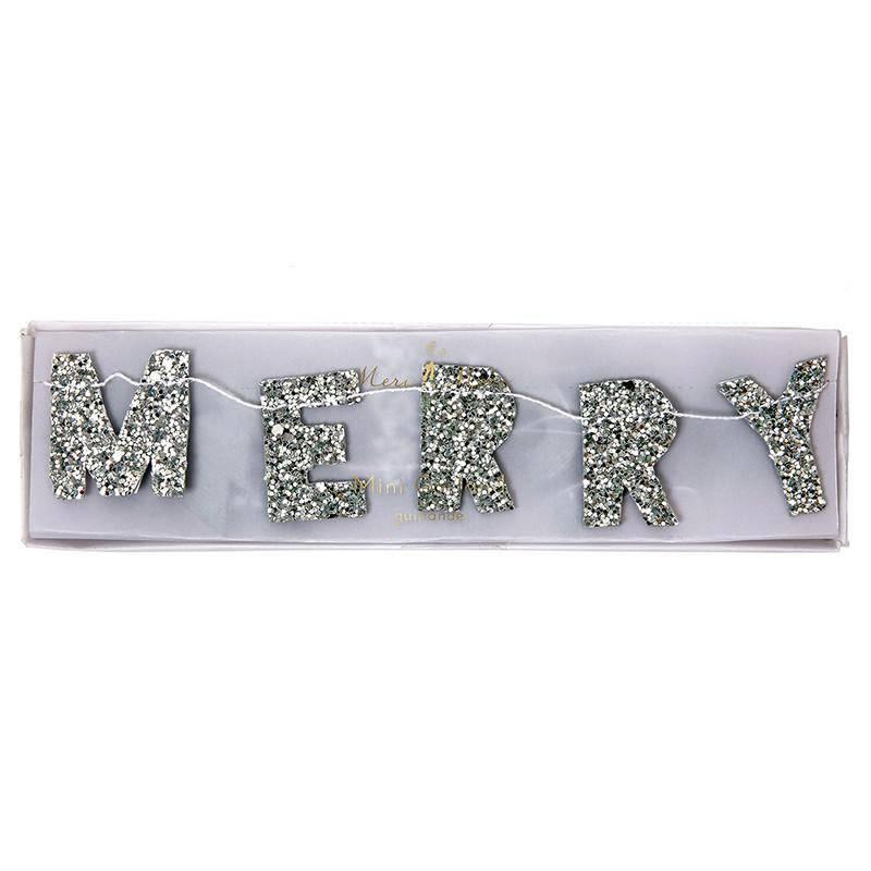 Meri Meri Mini Nieuwjaarsslinger zilver