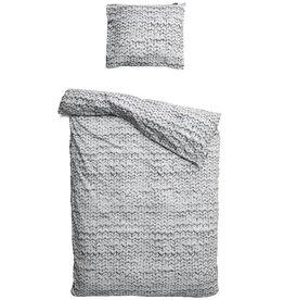 SNURK beddengoed Twirre dekbedovertrek grijs katoen 1p