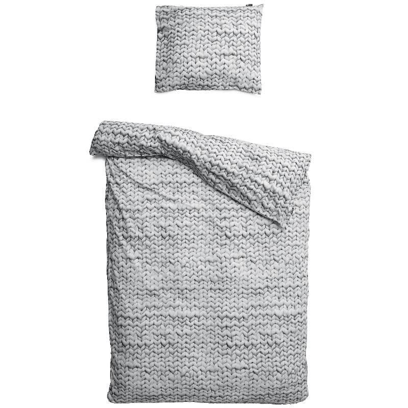 SNURK beddengoed HOUSSE DE COUETTE FLANELLE TWIRRE  gris