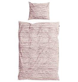 SNURK beddengoed FLANEL Twirre dekbedovertrek roze 1p