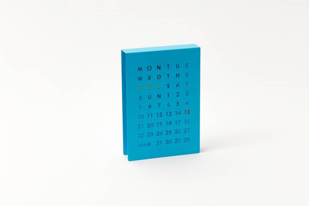 Block Eeuwigdurende kalender