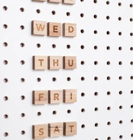 Block Pegboard Lettres