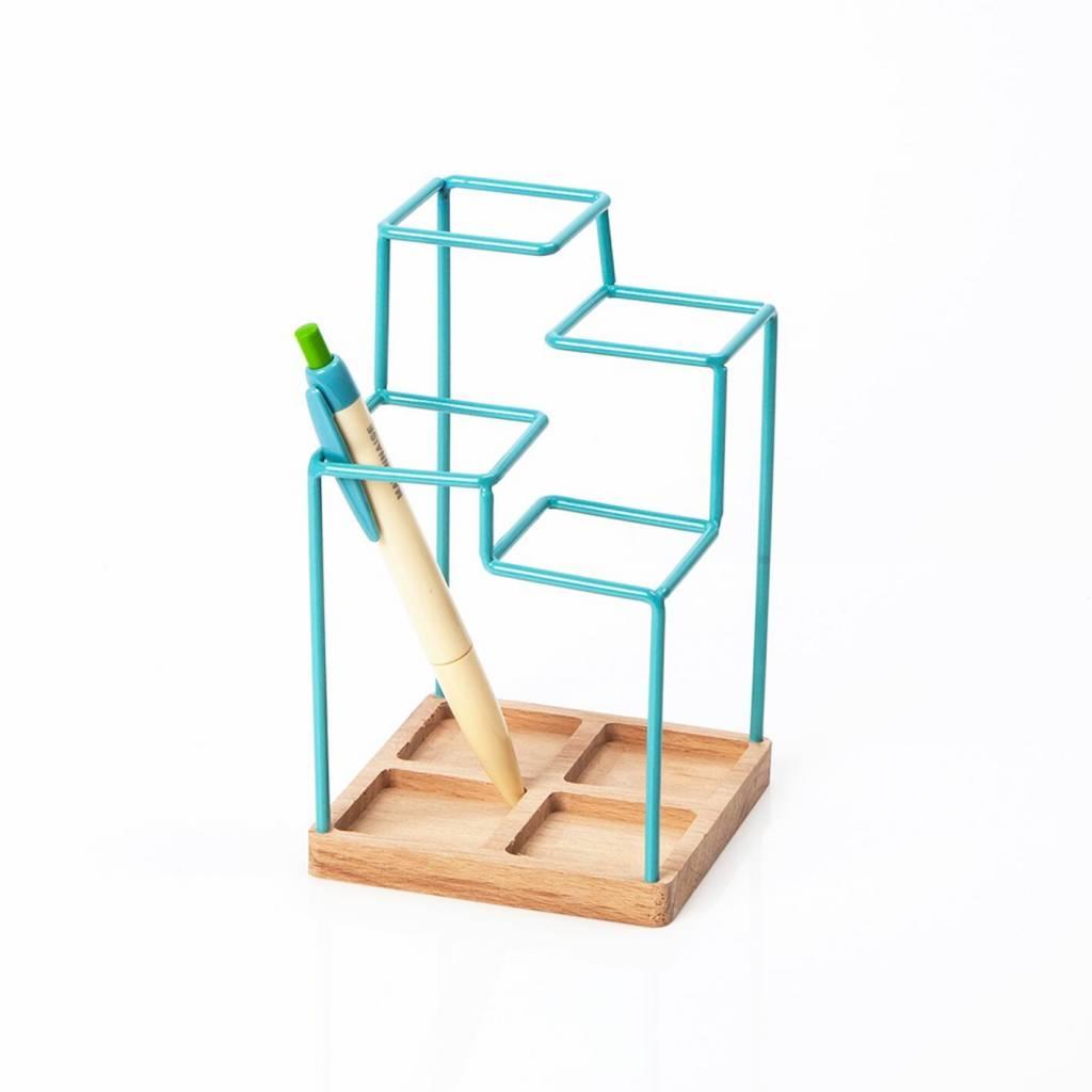 Block Block Pennenhouder - Blauw