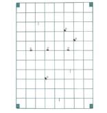 Block Notitiebord metaal - Blauw