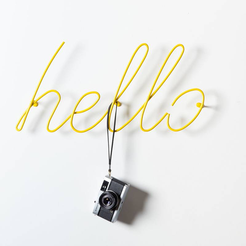 "Block ""Hello"" cintre - jaune"