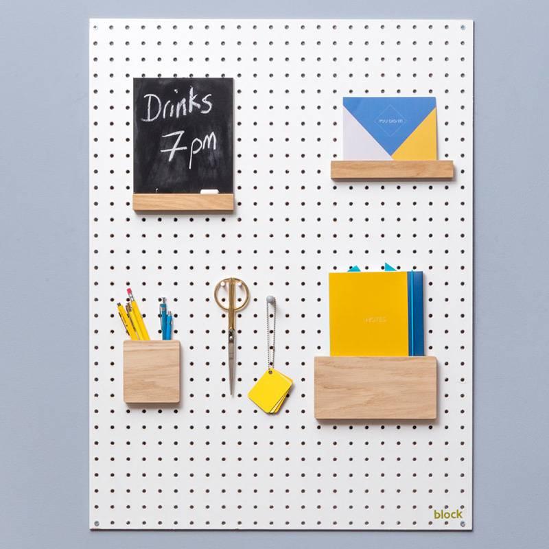 Block Pegboard porte-lettre