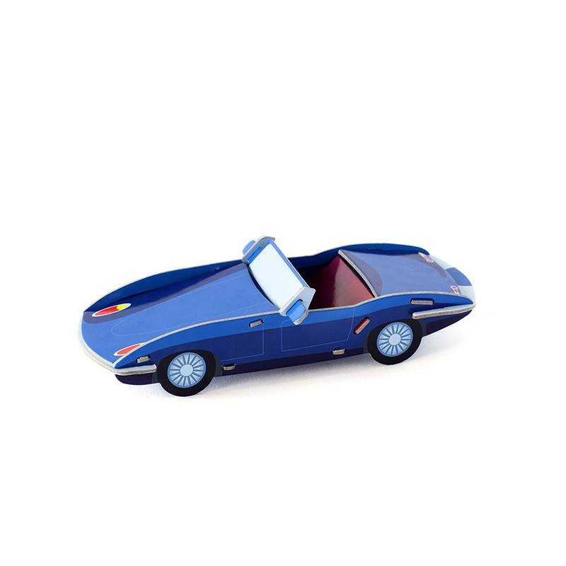 Studio Roof Cool classic oldtimer E-type 3D puzzel