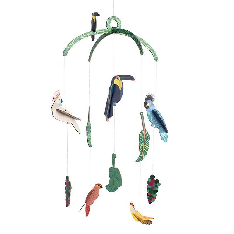 Studio Roof Mobiel exotische vogels 3D puzzel