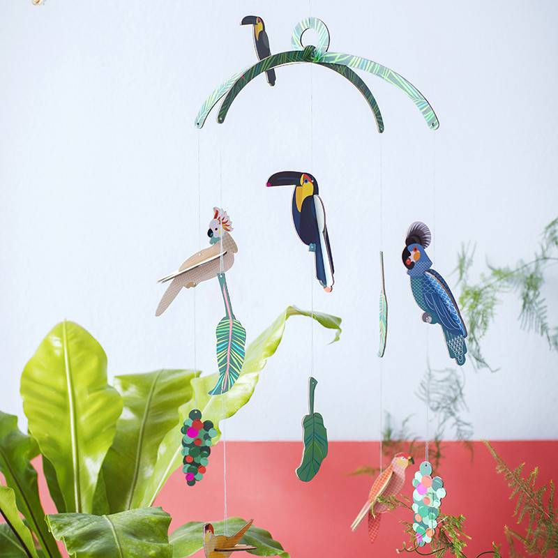 Studio Roof Mobile exotic birds 3D puzzle