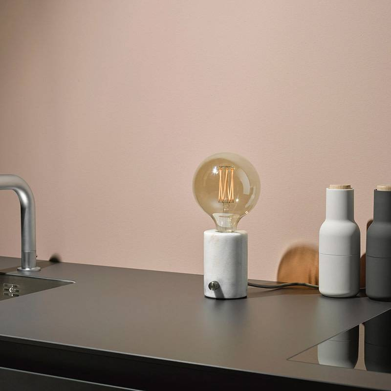 Edgar Lampe de table Orbis marbre