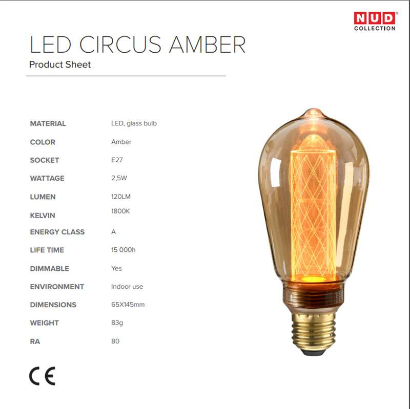 NUD Collection Circus lamp LED E27 amber