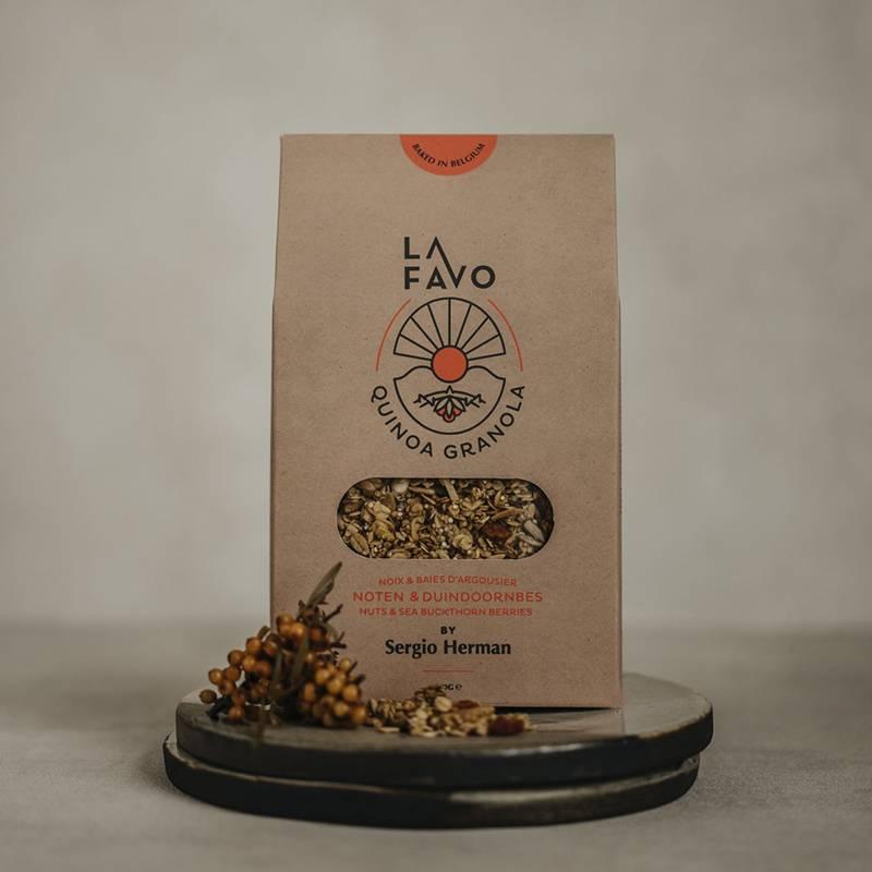 La Favo Granola noten & duindoornbes