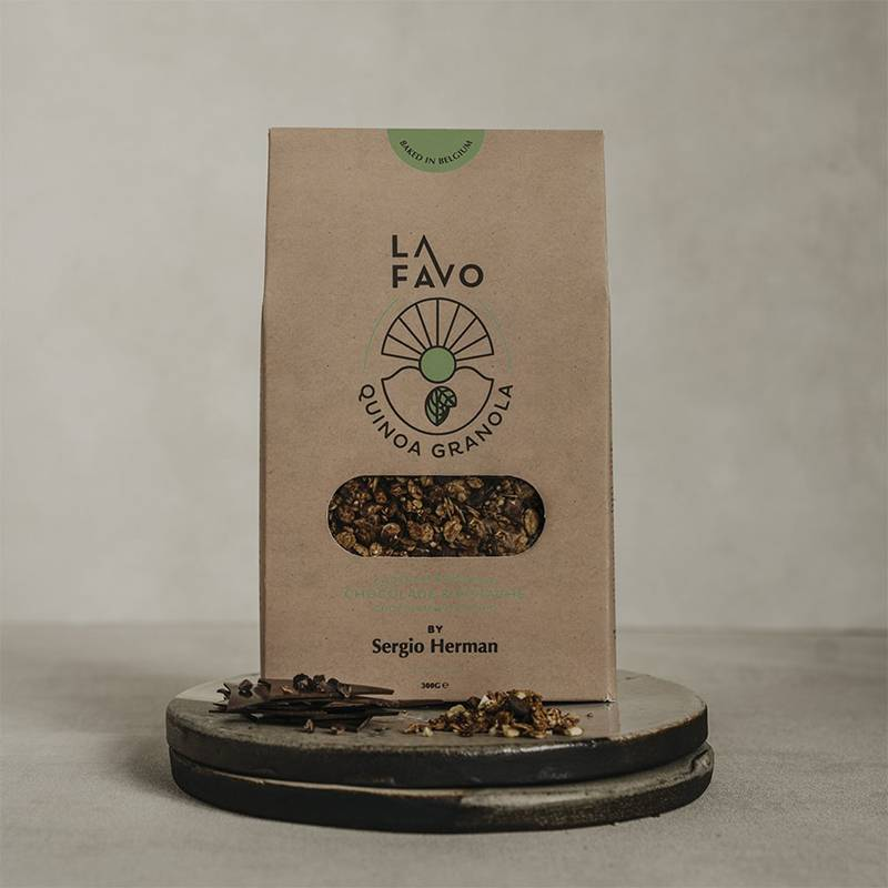 La Favo Granola Quinoa Chocolat & Pistache par Sergio Herman