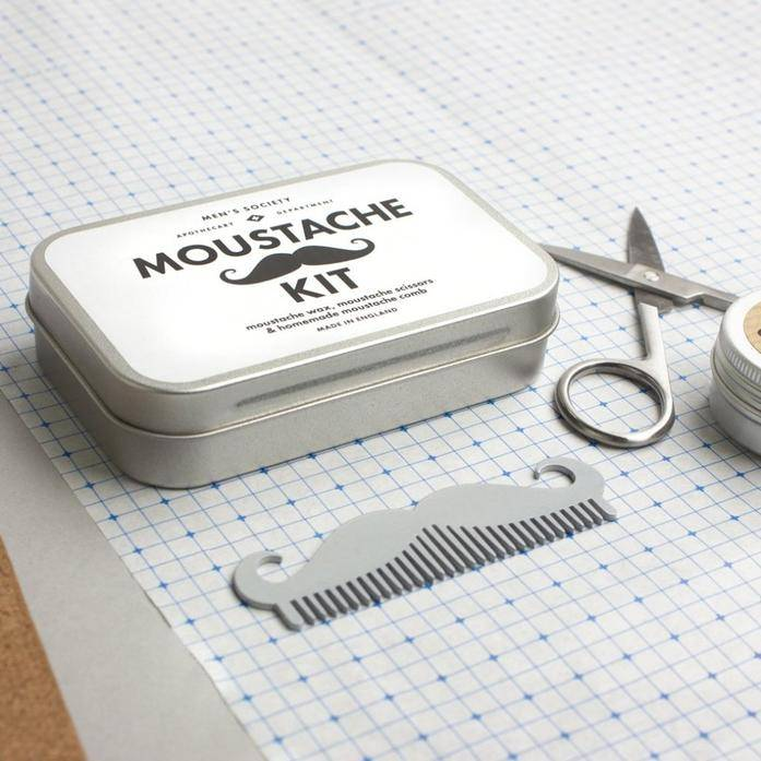 Men's Society Moustache kit