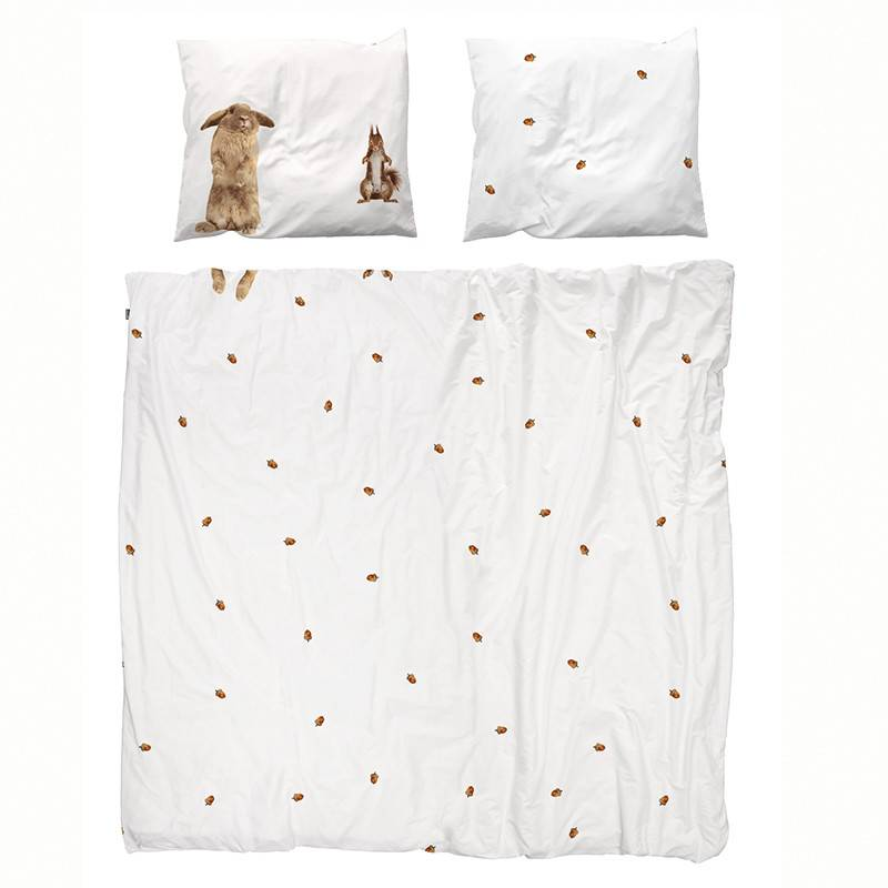 SNURK beddengoed Flanel Housse de couette Furry Friends (2p)