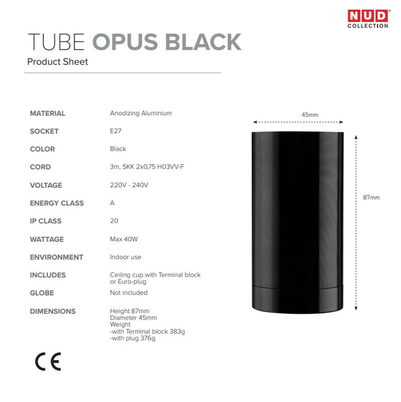 NUD Collection Opus lampe suspendue