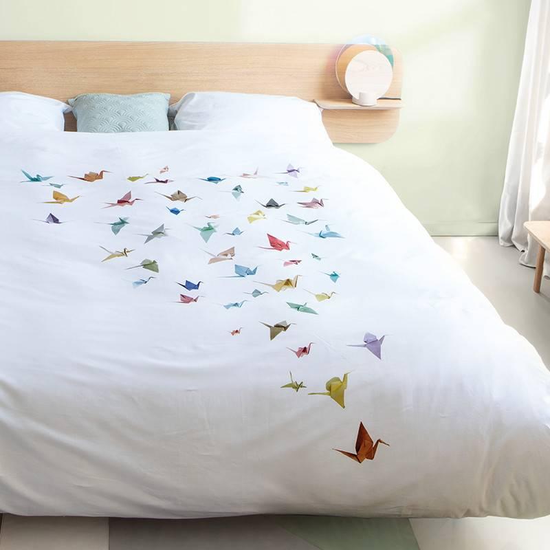 SNURK beddengoed Crane birds dekbedovertrek 2p
