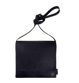 Zusss Joli sac à bandoulière à rabat M noir