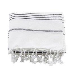 Meraki Hammam handdoek - zwarte streep