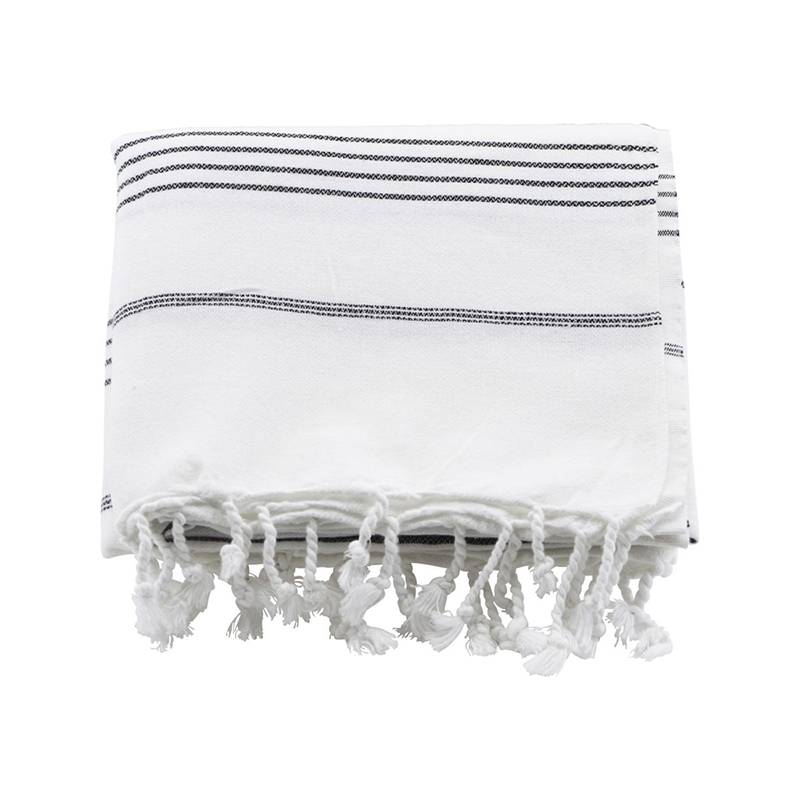 House Doctor Hammam handdoek - zwarte streep