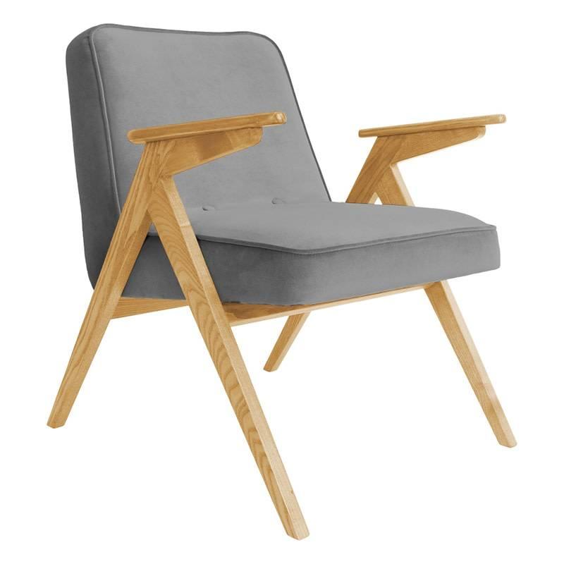 366 Concept 366 Bunny armchair Velvet - Hout in foto's is naturel eik!