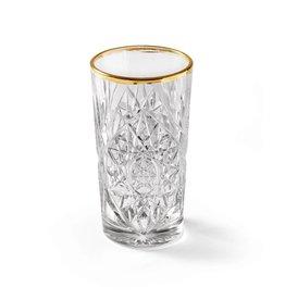 Libbey Glas n°1 Hobstar Gold longdrink