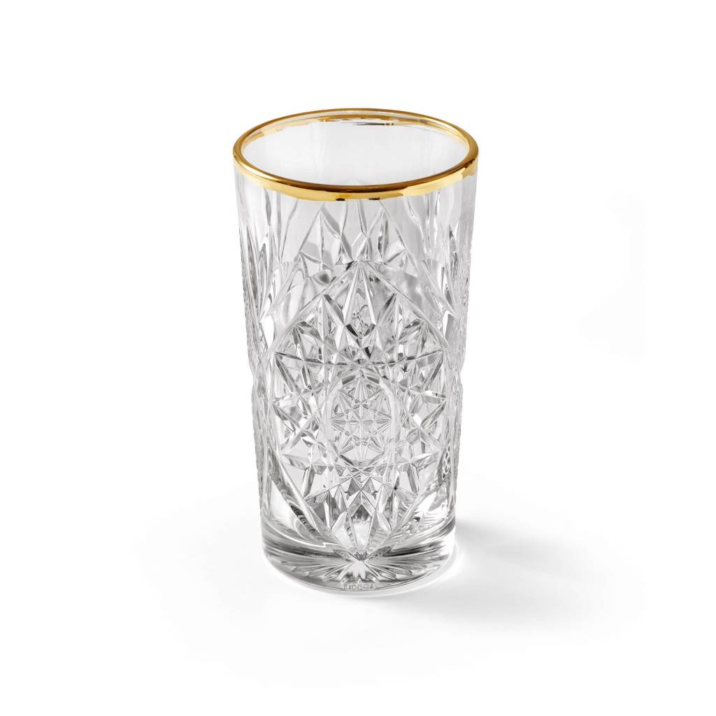 Libbey Glas n°1 Hobstar Gold longdrink 470 ml