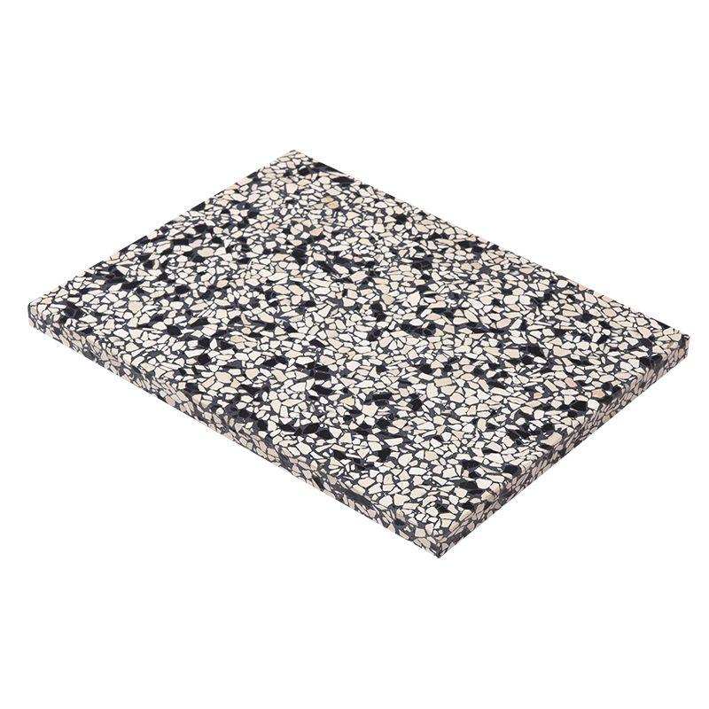 OK Design Confetti Black & Ivory terrazzo plank