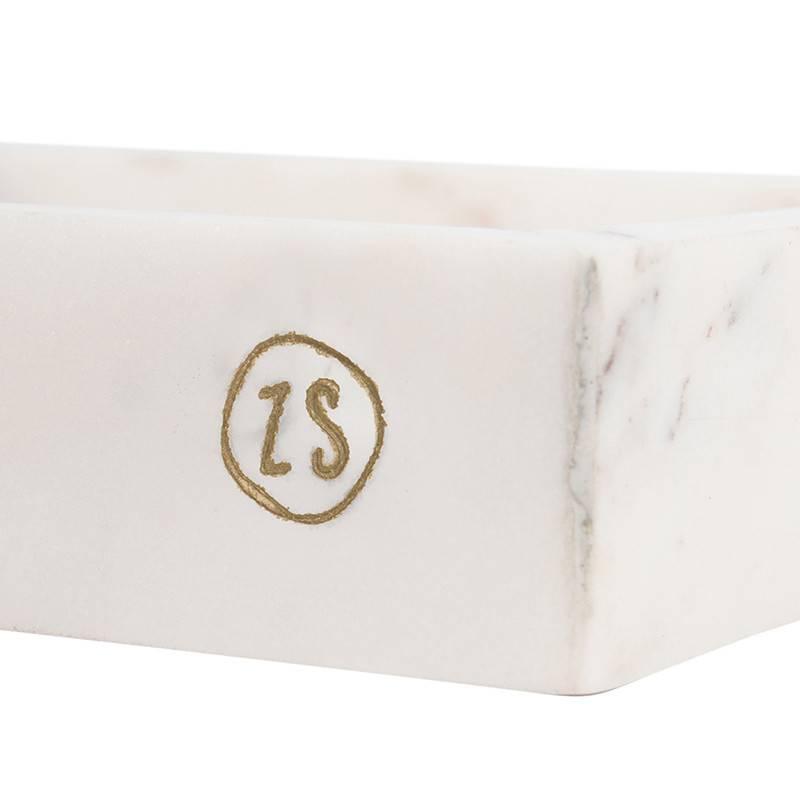 Zusss Plateau en marbre 20 cm