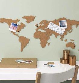 Other brands Kurk prikbord Wereldkaart
