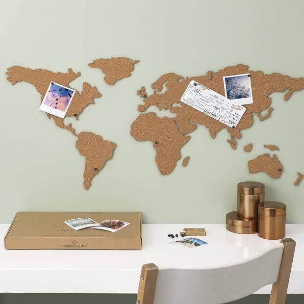 Ongebruikt Kurk prikbord Wereldkaart / Livingdesign / Op voorraad! - Livingdesign GF-78