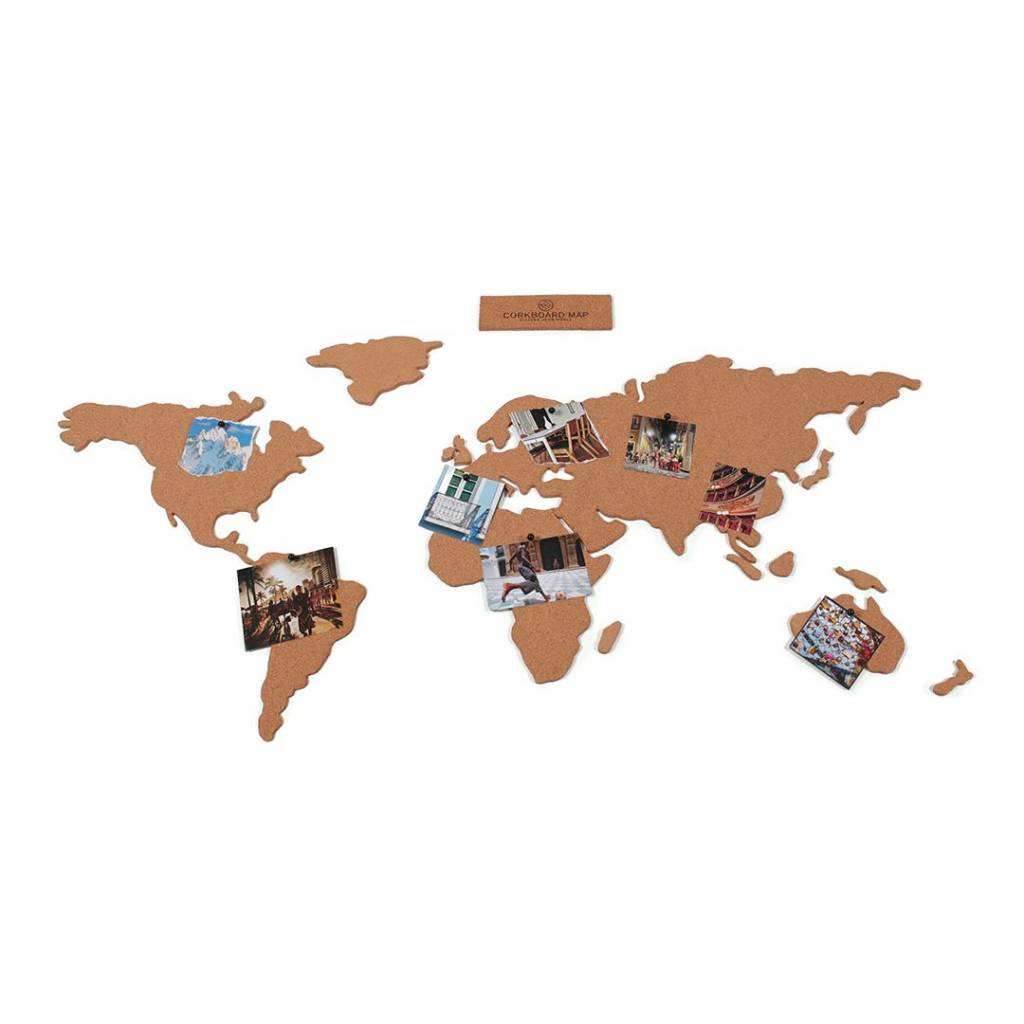 Other brands Tableau d'affichage en liége Carte du monde
