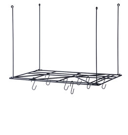 Fermliving Square rack de stockage (inclusive 8 crochets)