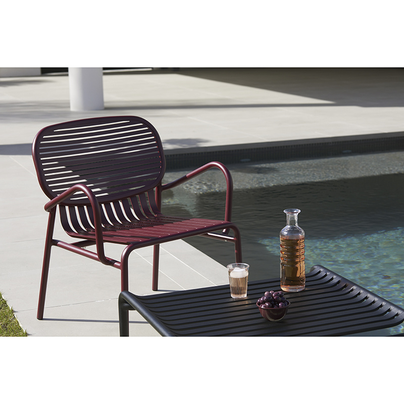 Petite Friture Week-end tuinset 60x69cm salontafel + 2 Lounge Chairs