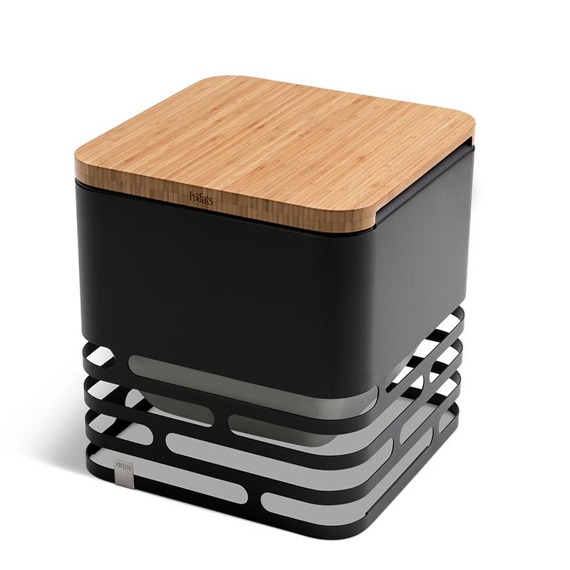 Höfats Cube vuurkorf zwart