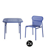 Petite Friture Week-end set de jardin 85x85 table + 2 chairs
