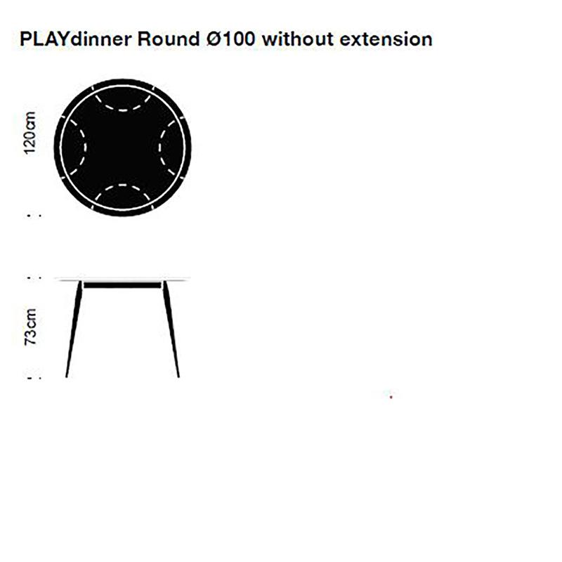 Bruunmunch Playdinner round chêne huilé