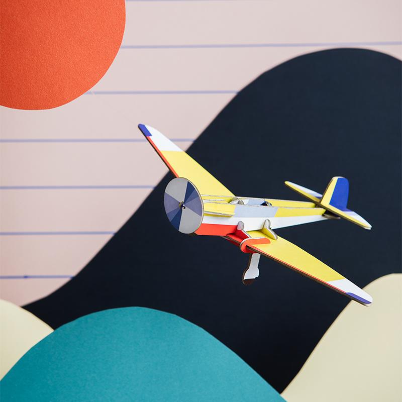 Studio Roof Cool classic plane Aiglon 3D puzzel