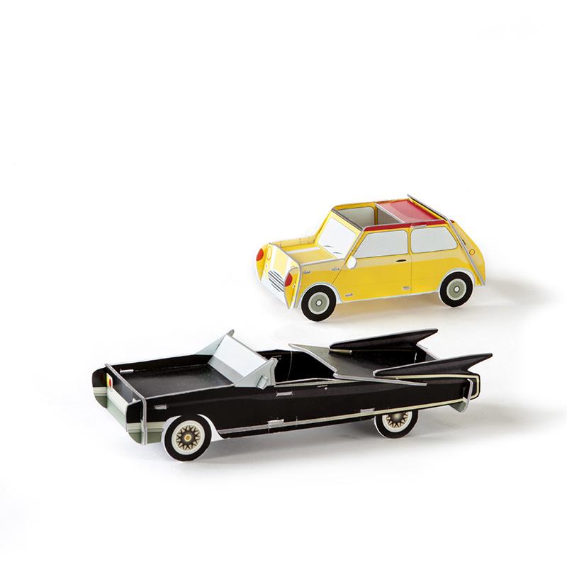 Studio Roof Deux cool cars noir et jaune 3D puzzle