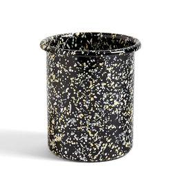 HAY Enamel bestekhouder Sprinkle zwart