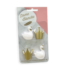 Atelier Pierre Magneetset Dame Blanche wit