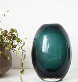 House Doctor Vase Ball bleu-vert