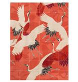 IXXI Kimono met kraanvogels wanddecoratie (recto-verso)