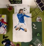 SNURK beddengoed Voetballer (blauw) dekbedovertrek
