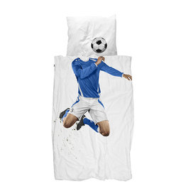 SNURK beddengoed Housse de couette football (blue)