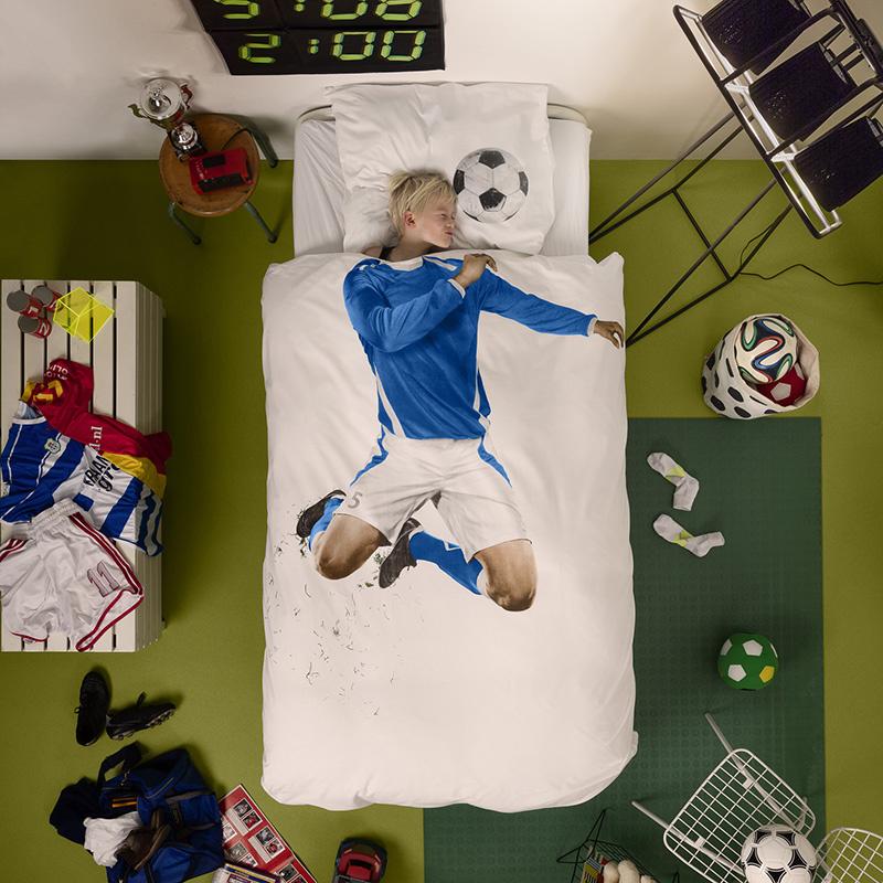 SNURK beddengoed Housse de couette football (blue)