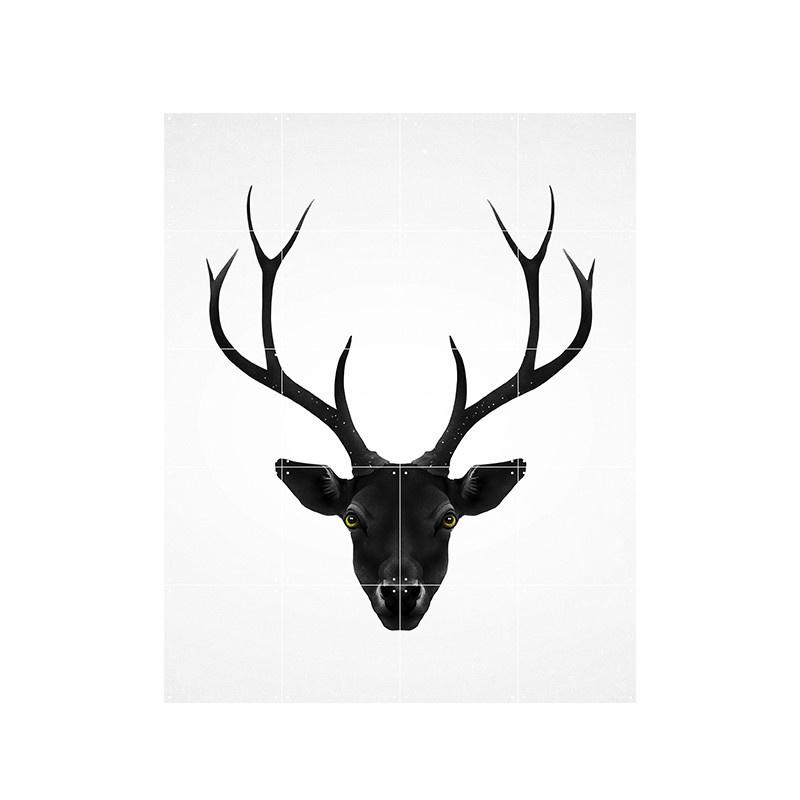 IXXI Deer black & white décoration murale  (recto-verso)